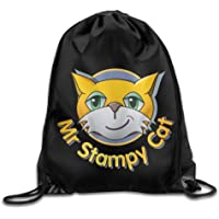 Drawstring Tote Backpack Bag Stampy Cat Logo