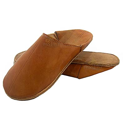 b8764dc22818 Babouche Traditional Camel Men s and Women s Moroccan Marrakesh Round Toe  Babouche Slippers Hand-sewn Unisex