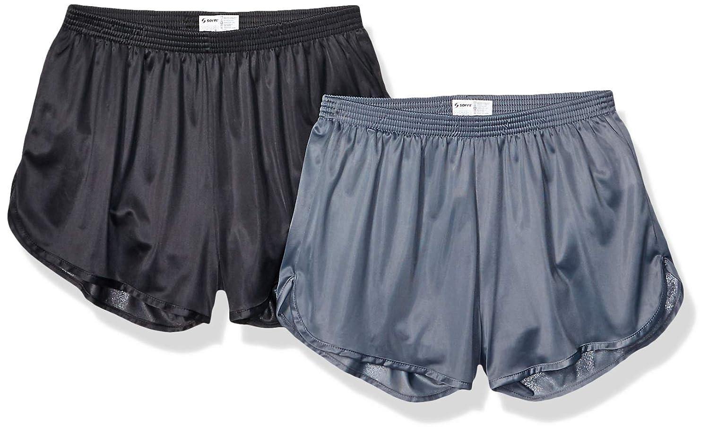 2 Pack Black//Gunmetal Small Soffe Mens Ranger Panty Running Short