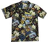 New Orleans Mardi Gras Hawaiian Camp Shirt by David Carey (M)