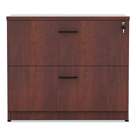 Alera Valencia Series 35-Inch by 22 by 29-1/2-Inch 2-Drawer Lateral File, Medium Cherry