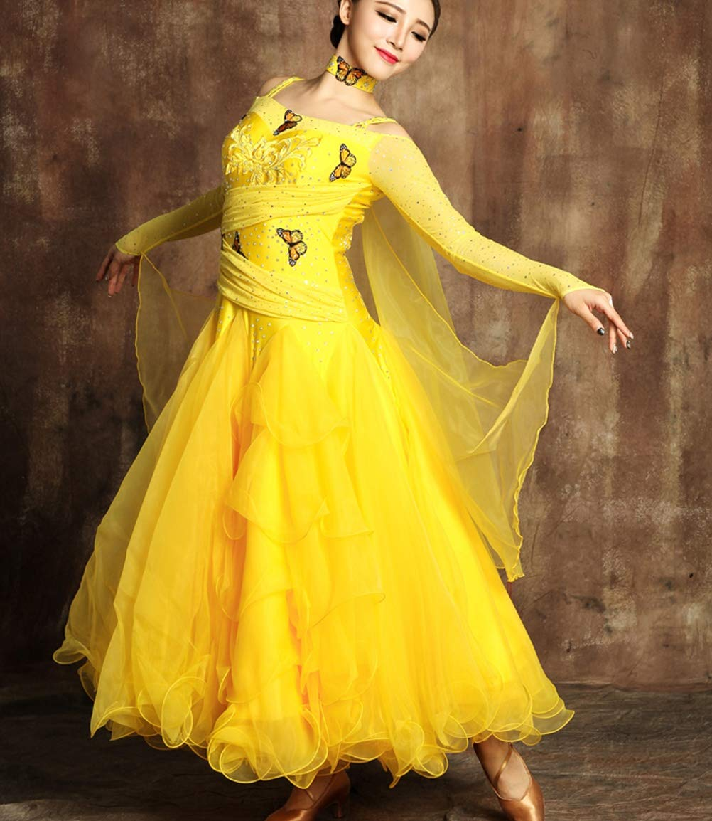 Ballroom Tanz Tanz Tanz Kleider für Frauen Flamenco Walzer Tango TanzKostüme Wettbewerb Kleid Great Swing modern Performance Rock B07J4NPGKT Bekleidung Starke Hitze- und HitzeBesteändigkeit 0e14f9