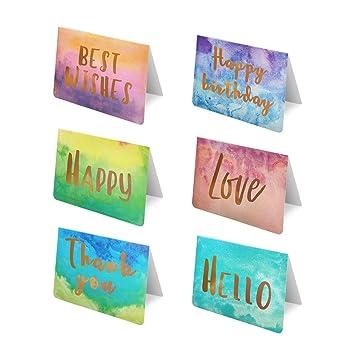 Amazon.com: Paquete de 48 tarjetas de felicitación para ...