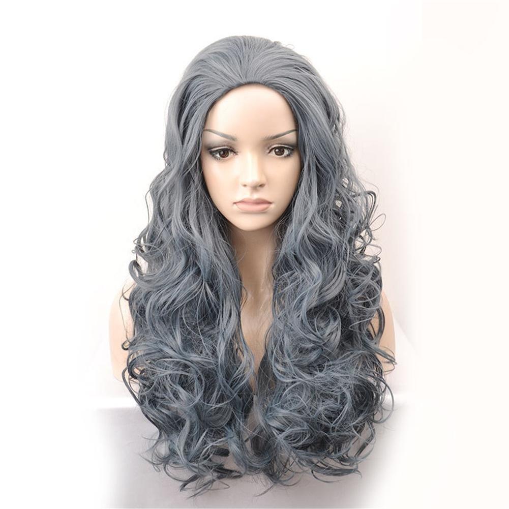 GAIHU Kinky Curly Ombre Gris Natural Sintético peluca cabello largo para la mujer resistente al calor con tapa pelucas (gris): Amazon.es: Deportes y aire ...
