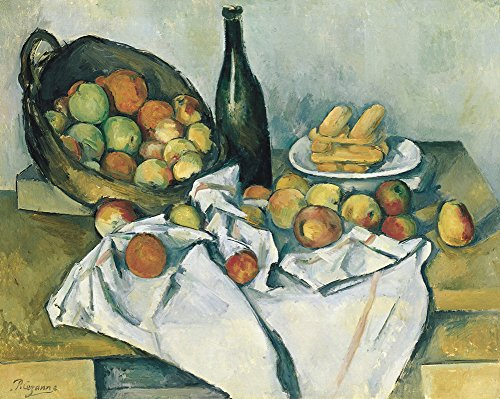 Paul Cézanne - The Basket of Apples, Size 11x14 inch, Gallery Wrapped Canvas Art Print Wall décor ()