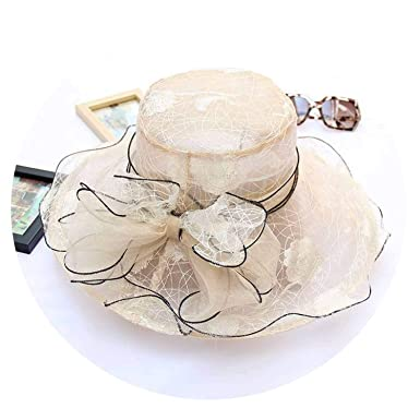 93ef61807b11f 7 Color Women s Church Hats Beach Hat Summer Gorras Sun Hat Wedding Vintage  Kentucky Derby Hats