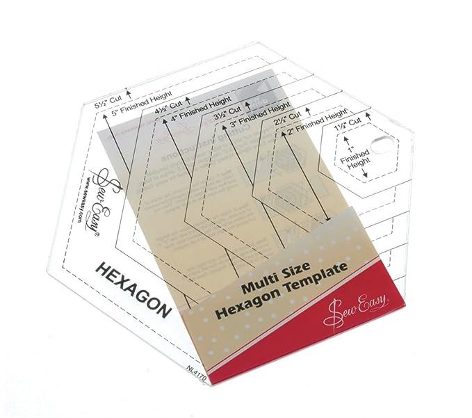 Quilt Schablone, Form Hexagon: Amazon.de: Küche & Haushalt