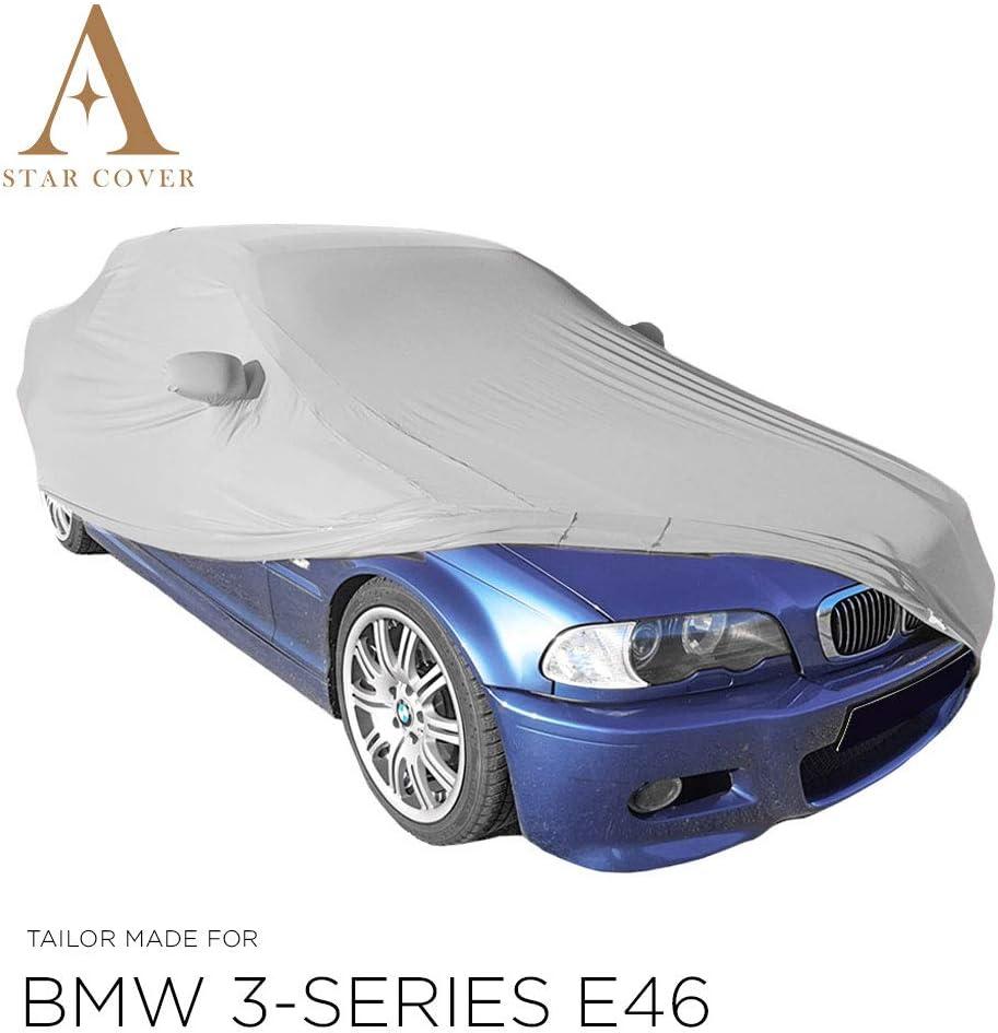 Autoabdeckung Grau Passend FÜr Bmw 3 Series E46 Mit Spiegeltaschen Ganzgarage Innen SchutzhÜlle Abdeckplane Schutzdecke Cover Auto