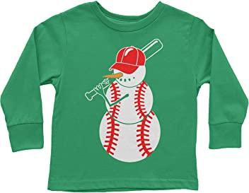 Threadrock Big Boys Baseball Snowman Youth Sweatshirt