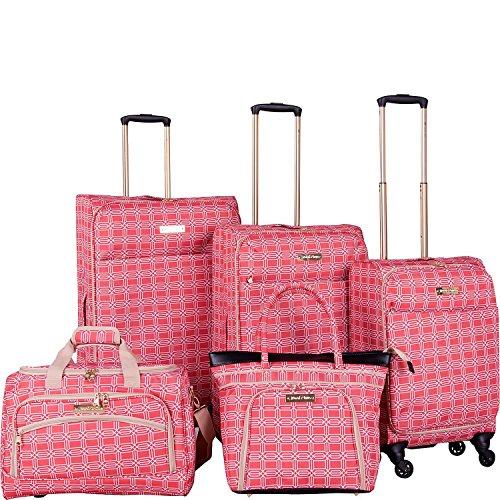 Jenni Chan Hanover 5 Piece Luggage Set (Coral)