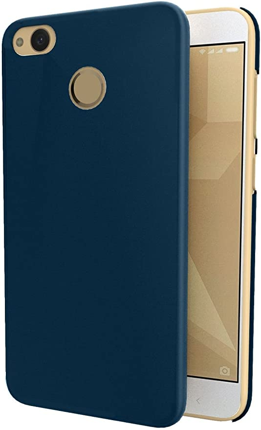 newest d015b eff14 Solimo Mobile Cover (Hard Back & Slim) for Redmi 4 (Blue): Amazon.in ...