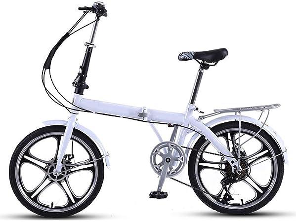 Bicicleta Plegable Adulto De Bicicletas, Estructura Aleación De Aluminio De Una Sola Rueda 7 Velocidad De Disco Mecánico De Bicicletas De Montaña De Frenos, Sistema De Plegado, Montado Completamente: Amazon.es: Hogar