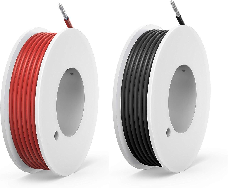 Noir+Rouge pour circuit imprim/é PCB 200V 0,8A 2 x 13 M/ètres NorthPada 28 AWG 0,08mm/² Kit de Fil /électrique torons Fils de silicone Fil /étam/é C/âble Cuivre 2 Couleur