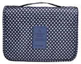 Multifunction Portable Waterproof Travel Kit Toiletry Travel Cosmetic Bag Hanging Hook For Men and Women Blue