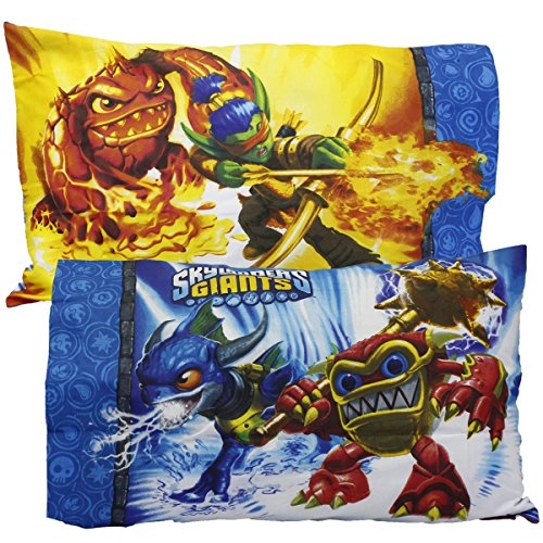 2pc Skylanders Giants Pillowcase Set Spyro Sky Friends Pi...