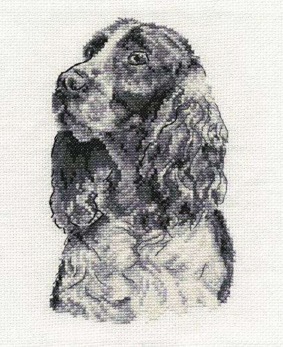 DMC Cross Stitch Kit - Dogs - Springer (Springer Spaniel Cross)