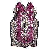 Womens KAFTAN Lounger Dress Pink Printed Caftan Plus Size