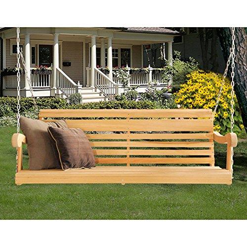 Hershy Way Cypress 5 ft. Classic Grandpa Porch Swing