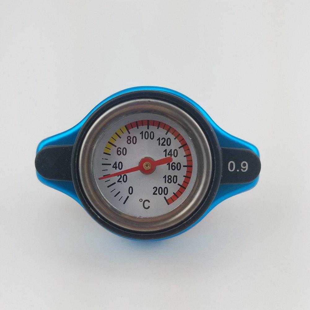 Calibre de temperatura de cabeza grande con seguridad de utilidad 0,9 y 1,1 y 1,3 bar termo radiador CapTank cubierta X-ZONE