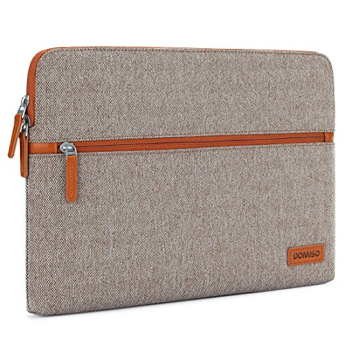 DOMISO 13.3 Inch Laptop Sleeve Canvas Case Tablet Cover Bag