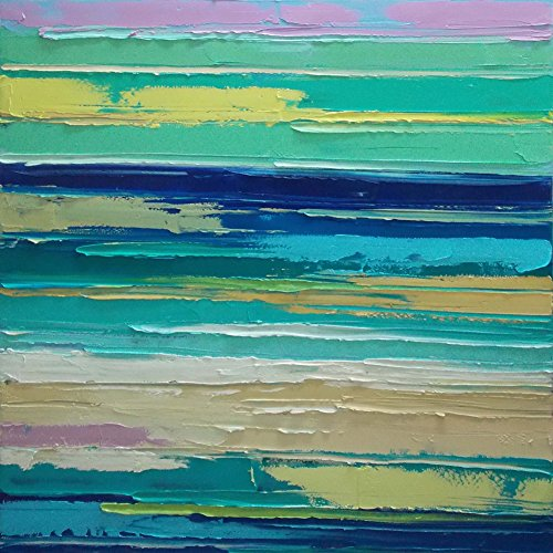 Asmork Abstract Oil Painting on Canvas Landscaping Best Buy Gift- Art Galleries Wall Decor Landscape Ready to Hang Modern Artwork for Bedroom Hand Painted Paintings, 31.5*31.5'' by Asmork