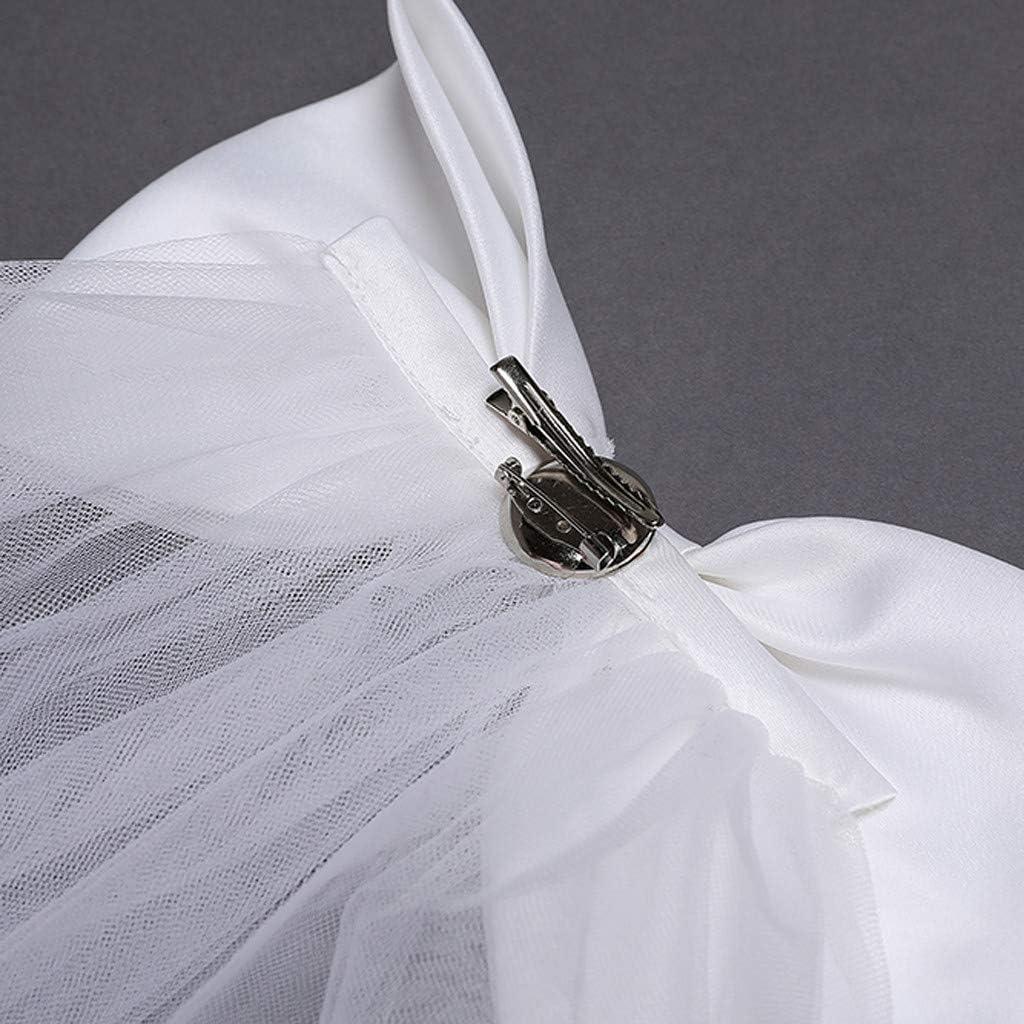 Longra Vestito da Ragazza Festa in Pizzo per Bambini Abiti da Sposa Ragazze Pizzo Ricamo Fiore Matrimonio Festa di Compleanno Principessa Abito Coda Lunga Abiti da Ballo con Fiocco 1-7 Anni
