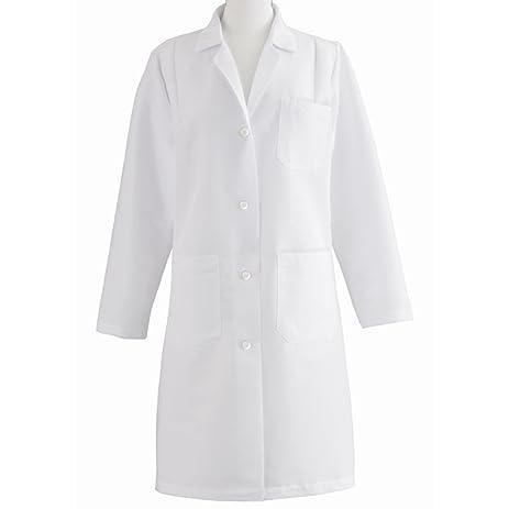 Amazon.com: Medline MDT13WHT1E Women's Full Length Lab Coat, White ...