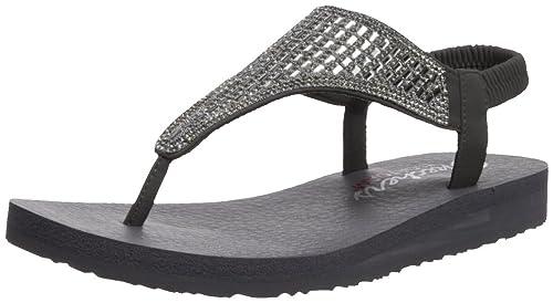 e28946270442db Skechers Women s Meditation-Rock Crown Charcoal Flip-Flops-7 UK India (