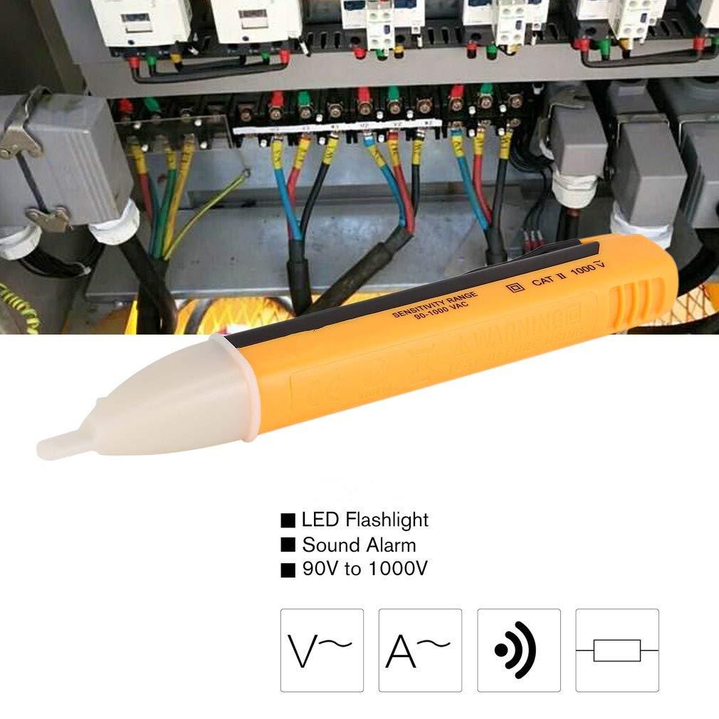 HLSGPPL AC DC Voltage Detector Ncv Non Contact Tester Pen Volt Meter Sensor Electric Test Pencil 90V to 1000V Sensitivity Voltmeter