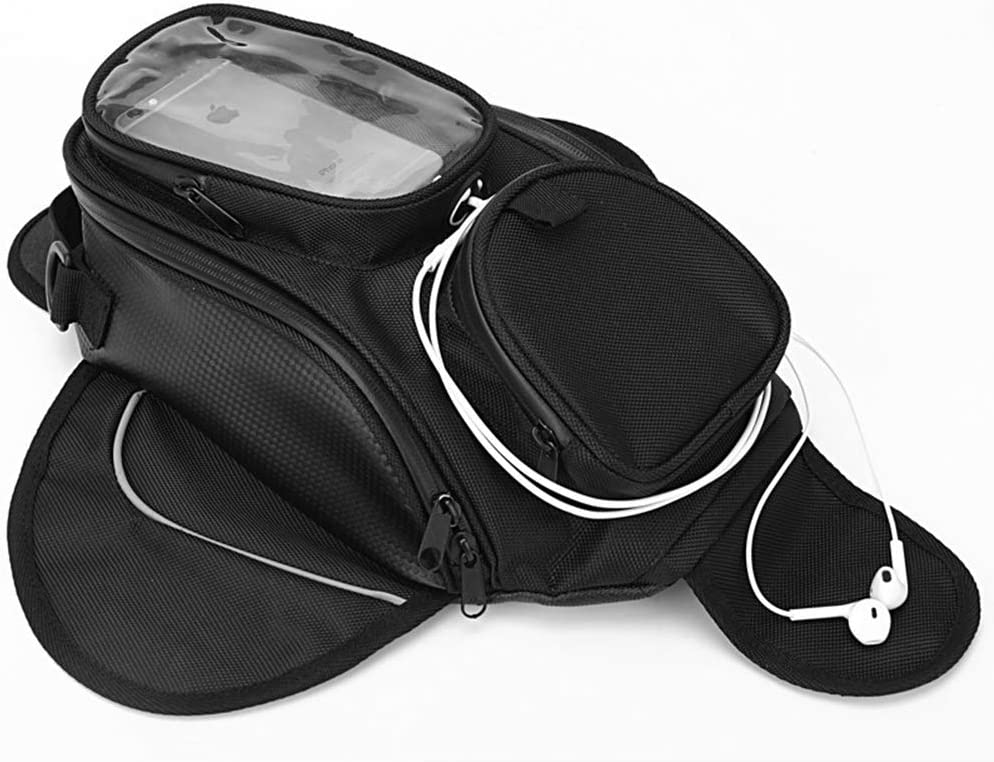 CARACHOME Bolsa De Tanque De Motocicleta,Motorbike Luggage Waterproof Magnetic GPS Phone Pouch, Impermeable Oxford Saddle para Harley Davidson Honda Yamaha Suzuki