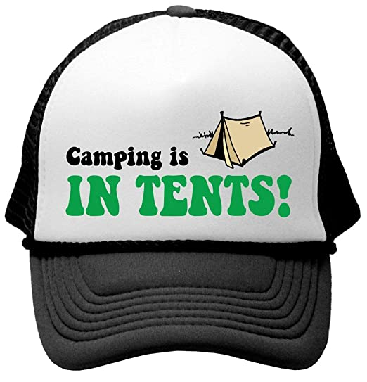 6c4130b9cc8a4 Amazon.com  CAMPING IS IN TENTS - funny outdoors adventure hip Mesh ...