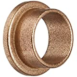 """Bunting Bearings EXEF121408 Extra Lubricant with PTFE Flange Bearing, Powdered Metal, SAE 841, 3/4"""" Bore x 7/8"""" OD x 1/2"""" Length x 1 1/8"""" Flange OD x 1/8"""" Flange Thickness (Pack of 3)"""