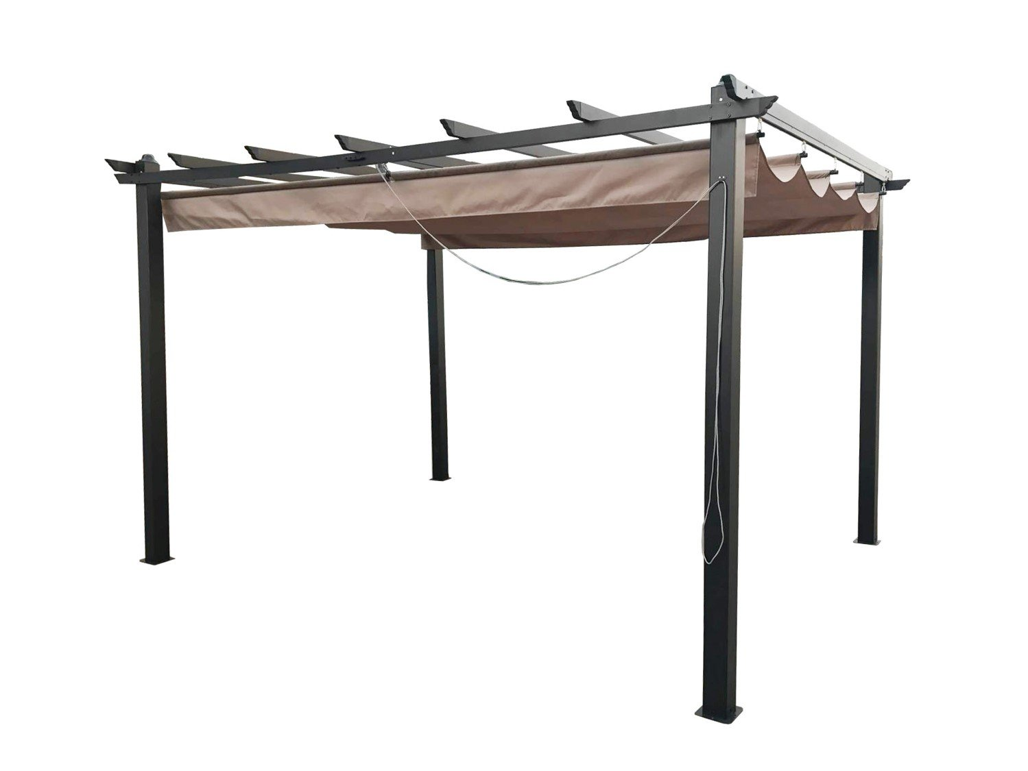 retractable roof gazebo pergola shade systems. Black Bedroom Furniture Sets. Home Design Ideas