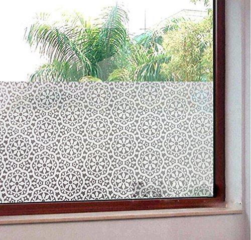 45 x 200CM Weikai 3D Window Films Privacy Film Static Decorative Snowflake Film Non-Adhesive Heat Control /& Anti UV 17.7Inchs by 78.7Inchs