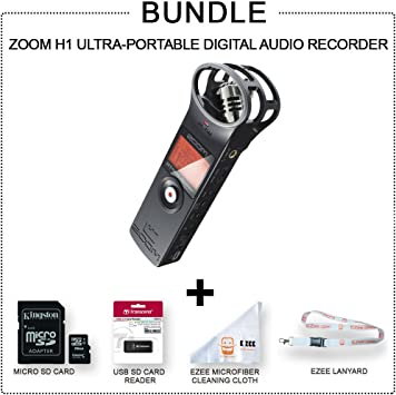 Amazon Com Zoom H1 Handy Portable Digital Recorder More Value
