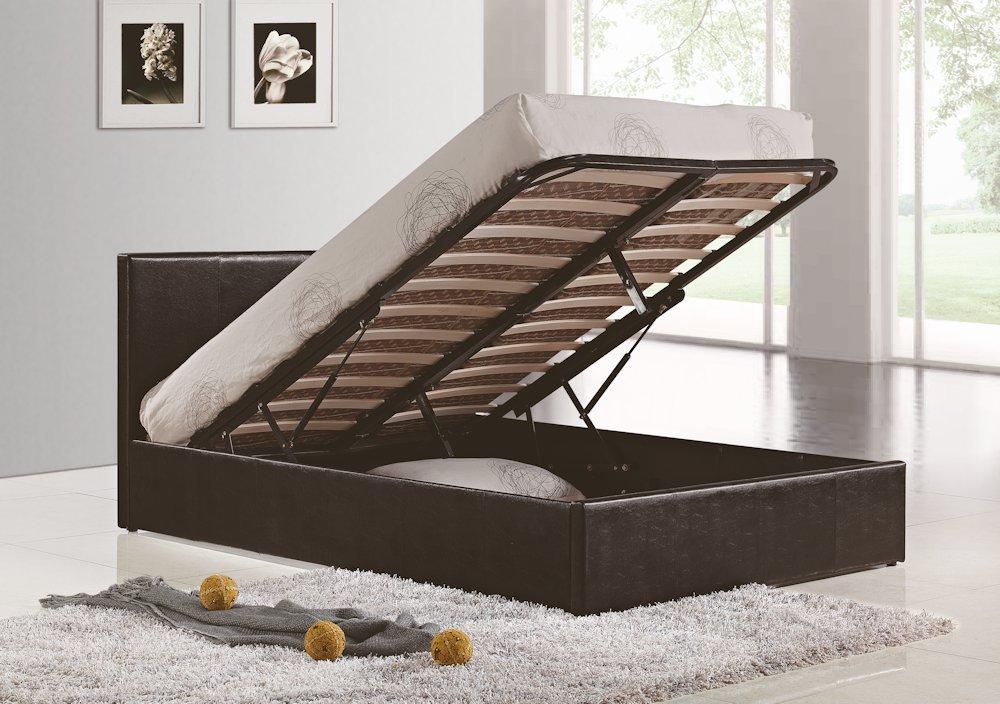 Birlea Berlin Ottoman Bed - Faux Leather Black Double Amazon.co.uk Kitchen u0026 Home & Birlea Berlin Ottoman Bed - Faux Leather Black Double: Amazon.co ...