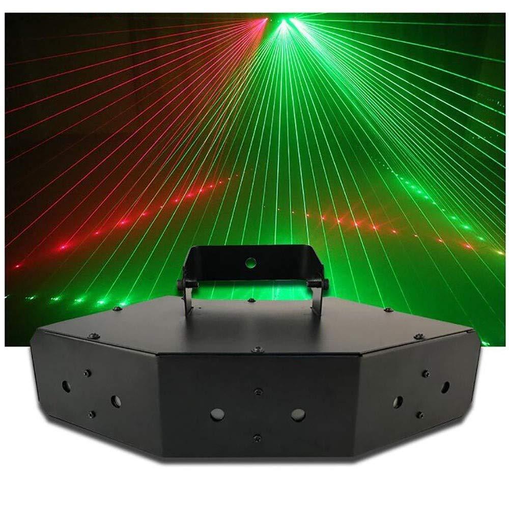 QFQ Lumi/ères de la sc/ène disco LED couleur six pics ligne de balayage lumi/ères de partie de faisceau ventilateur flash KTV commande vocale en forme DMX512 lumi/ères DJ for Dancing KTV Bar Club Vocal A
