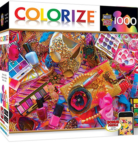 MasterPieces Colorize Glamour & Glitz Girls Accessories 1000 Piece Jigsaw Puzzle