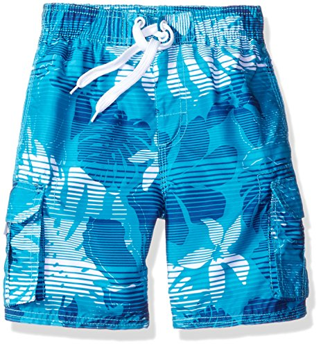 Kanu Surf Toddler Boys' Echo Quick Dry Beach Swim Trunk, Paradise Aqua, 3T