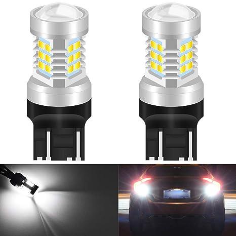 KaTur 7443 7444NA Bombillas LED Blancas 2835 21SMD 80W Alta Potencia Lente de 12V LED Señal