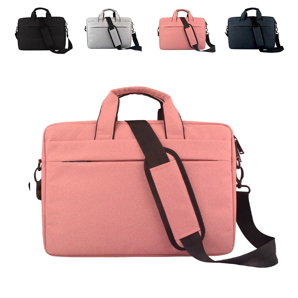 DREAM.ELK Laptop Briefcases 13.3-15.6 Inch Messenger Bag Handbag Include shoulder strap Sleeves Shoulder Bags Men Women for Business Notebook Laptop Computers Tablet,14 Inch,Pink