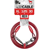 BV Pet Heavy Extra-Large Tie Out Cable for Dog up to 125 Pound, 30-Feet