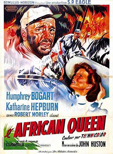 The African Beauty queen POSTER Movie (1951) French Style C 11 x 17 Inches - 28cm x 44cm (Humphrey Bogart)(Katharine Hepburn)(Robert Morley)(Peter Bull)(Theodore Bikel)(Walter Gotell)(Peter Swanwick)
