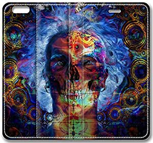 "Abstract Artistic Psychedelic Leather Cover for iPhone 6 Plus(5.5"") by mcsharks"