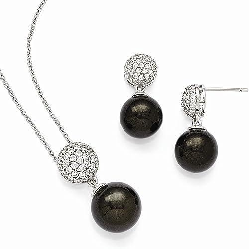 CS-DB AAA Cubic Zirconia Love Heart Pendants Silver Necklaces