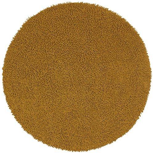 Shagadelic Chenille Twist Round Rug, 5' x 5', Gold (Shag Rug Round Gold)