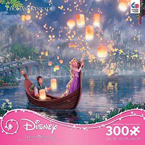 THOMAS KINKADE JIGSAW PUZZLE DISNEY DREAMS TANGLED 300 PCS #