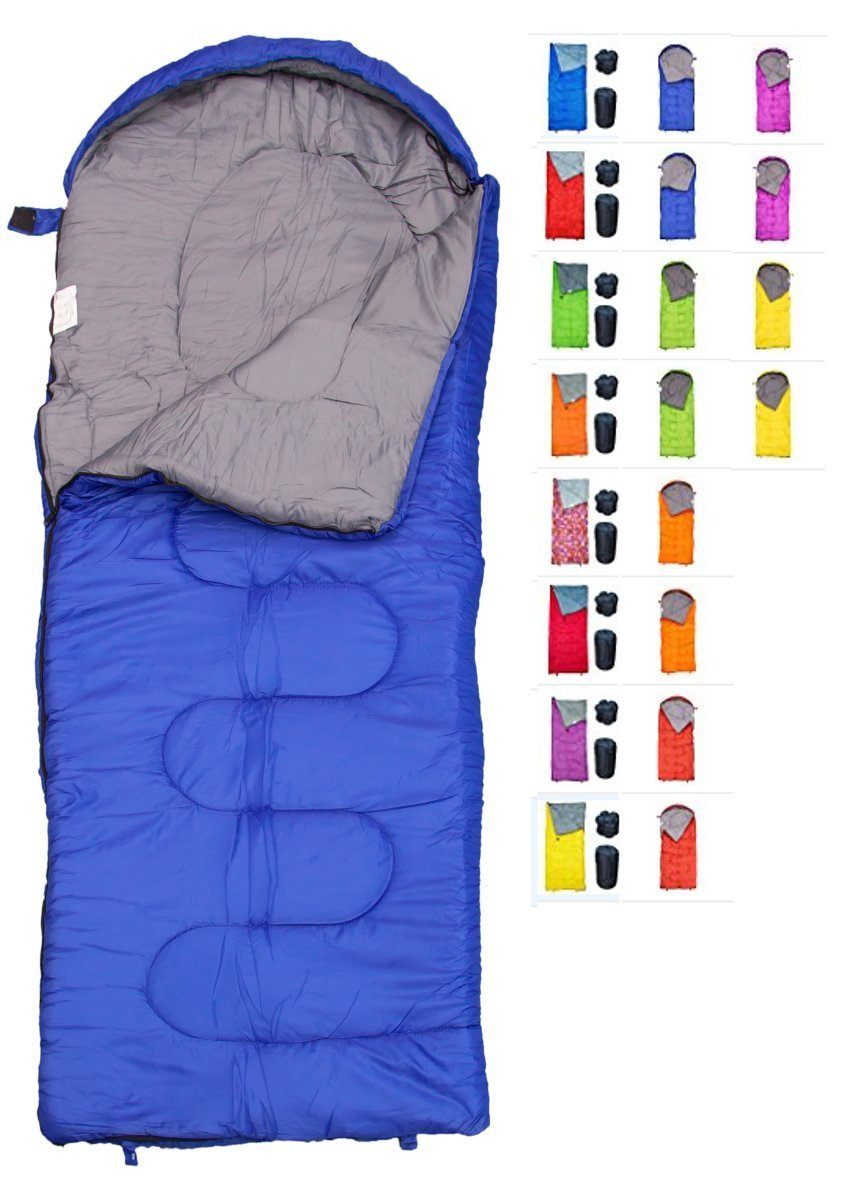 REVALCAMP Sleeping Bag for Cold Weather - 4 Season Envelope Shape Bags by Great for Kids, Teens & Adults. Warm and Lightweight - Perfect for Hiking, Backpacking & Camping (Blue - Envelope Right Zip) by REVALCAMP