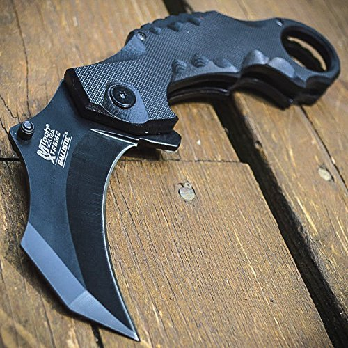 8'' Spring Assisted G'Store Open Folding Pocket Knife Karambit Claw Combat Tactical by M TECH new
