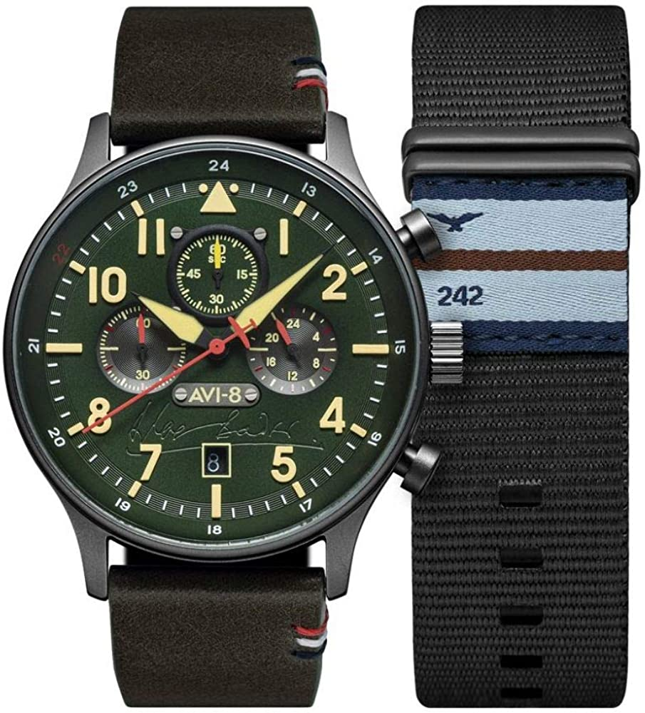 Hawker Hurricane Mens Analog Japanese Automatic Watch with Leather Bracelet AV-4072-02